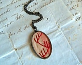 Vintage Crazy Quilt Necklace Embroidered