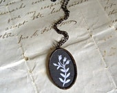 Flowers Silhouette Necklace