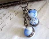 The Blues Marble Necklace Trio