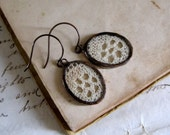Vintage Crochet Lace Earrings Vintage Wedding Jewelry