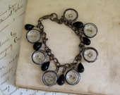 Clearly Found Glass Button Bracelet