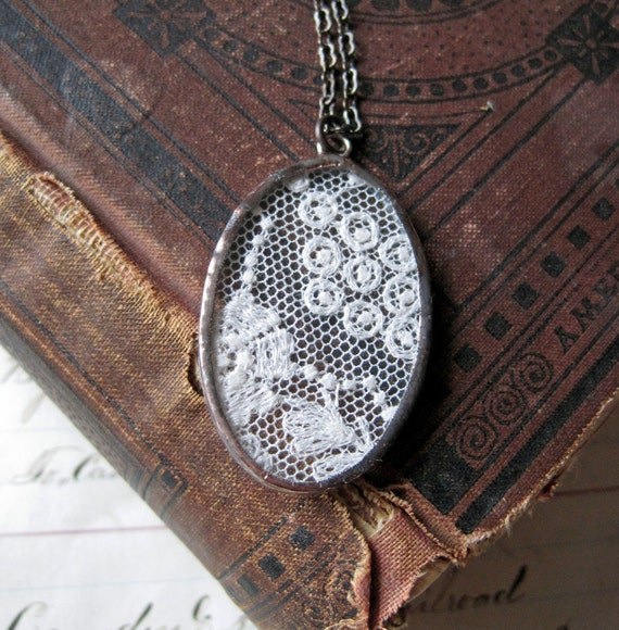 Remembered Vintage Lace Necklace
