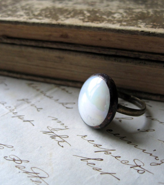 Looking Glass Nugget Ring Adjustable