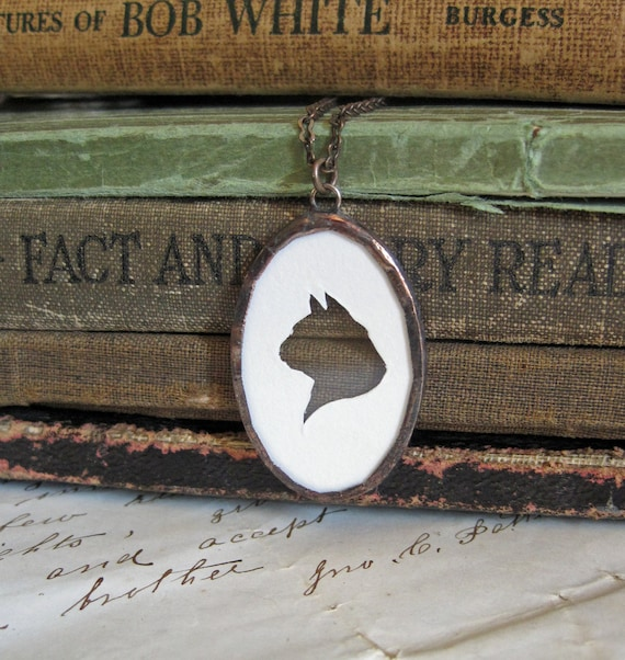 Meow Cat Silhouette Necklace