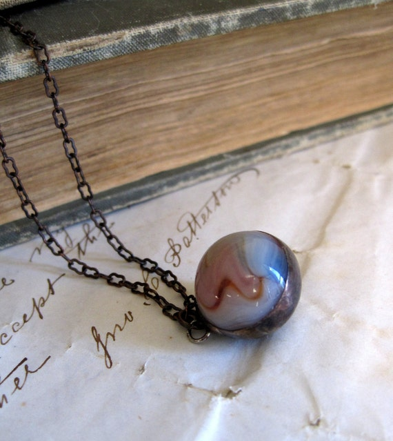 Layered Vintage Marble Necklace