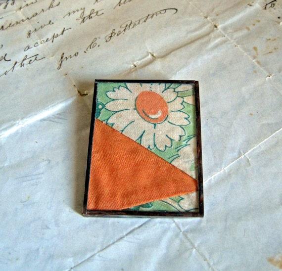 Grandma's Garden Vintage Quilt Pin