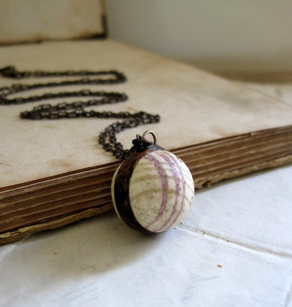 Natural School Playground Clay Marble Necklace