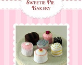 DIY Felt Tea Party Treats...Dessert Set...Felt Food Pattern PDF