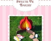 DIY Camp Set...Smore...Toasted Marshmallows...Felt Food Pattern PDF