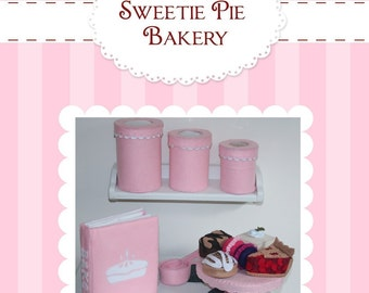 NEW PATTERN  Felt Cookbook and Baking Set PDF ebook  (Cookbook, Printable Recipe Pages, Canisters, Treats, Measuring Cups)