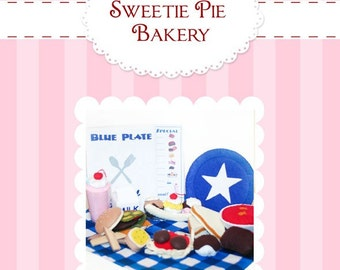 Blue Plate Special-Restaurant Felt Food Pattern  PDF