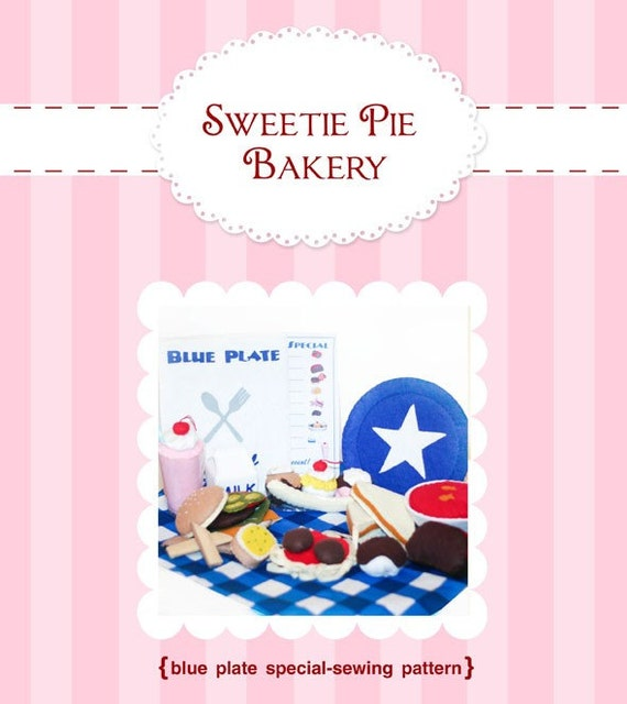 Blue Plate Special-Restaurant Felt Food Pattern  PDF