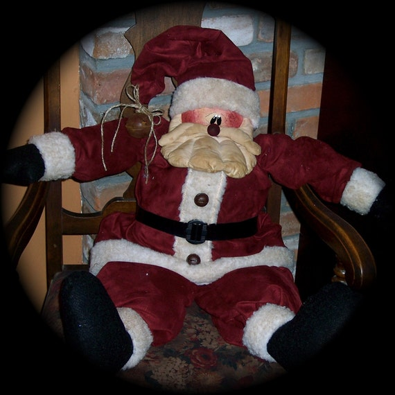 Time Worn  Santa