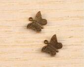 Vintaj Brass Tiny Butterfly Charms Set of Two SALE