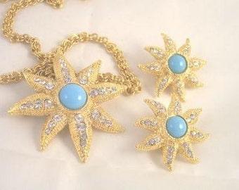 R. J. Graziano Star Burst Vintage Necklace Set