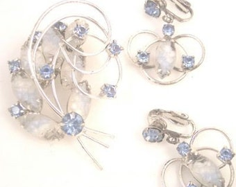 Gorgeous Crackle Glass Rhinestone Set