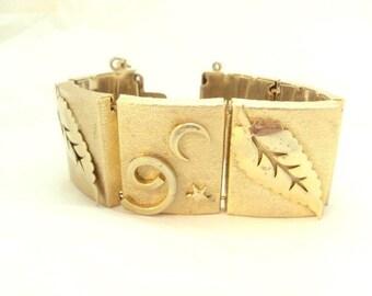 Extra Wide Vintage Nature Link Bracelet
