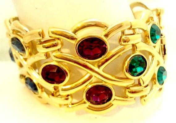 Wide Vintage Napier Link Bracelet