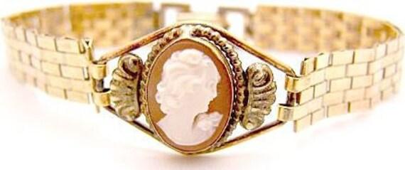 1930's Cameo Bracelet Gold Filled PR.ST.CO