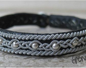 genuine Sami Swedish  LAPLAND bracelet, model Solaris Thin