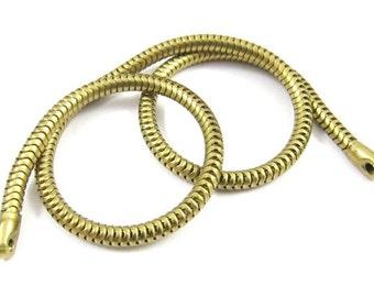 Vintage Raw Brass Snake Chain - 2