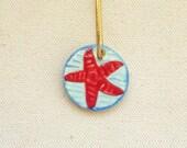 Sea star starfish ocean ornament or pendant