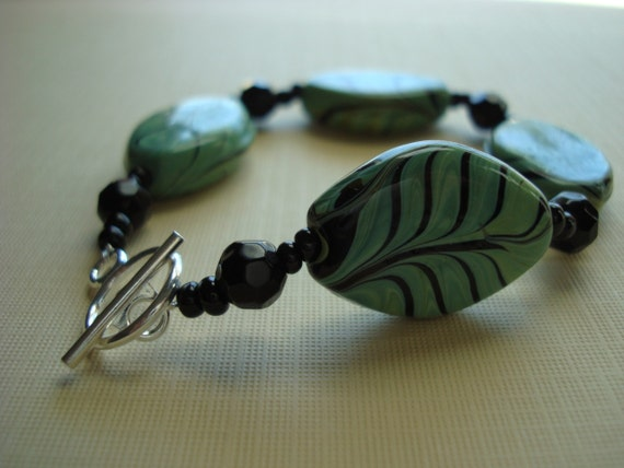 Fall Sale Glass Leaf Bracelet