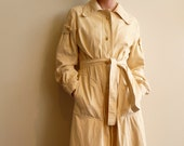 60s Suede Goatskin Coat in Bone