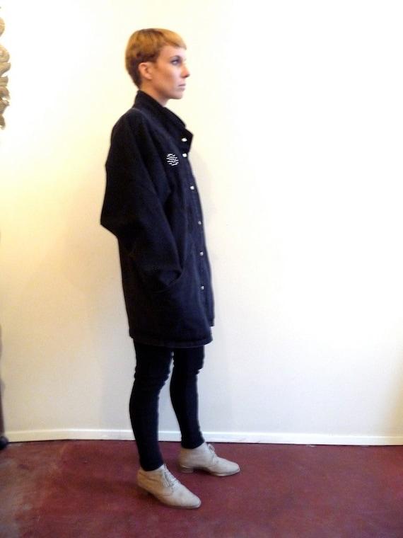 80s Black Denim Dolman Studded Cocoon Jacket last chance item, not renewing.