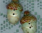 Stoneware 3D ACORN  Buttons...uniquebuttons