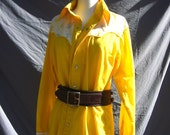 Vintage Yellow Floral Western Shirt