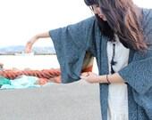 1970s Japanese Blue Spring Kimono
