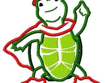 Tuck Turtle Embroidery Design