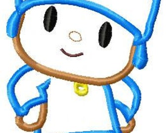Pocoyo Applique Embroidery Design