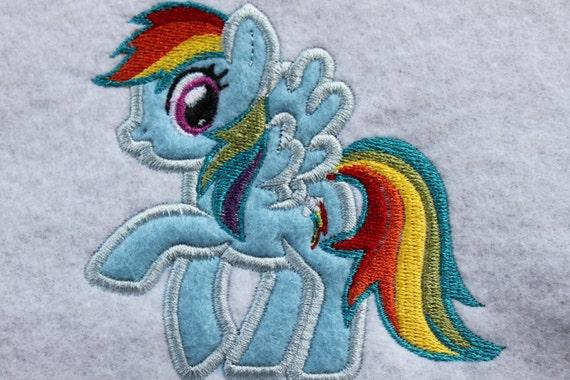 Rainbow Pony Embroidery Design
