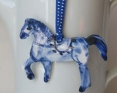 SALE - Horse  - Handpainted porcelain wall hanging - ornament