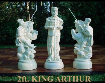 2 ft. king// World's First Giant full body MEDIEVAL OUTDOOR CHESS Set