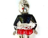 Vintage Can Opener Collectible Can Can Opener Dancing Lady Skirt and Stockings ((Free Shipping USA))