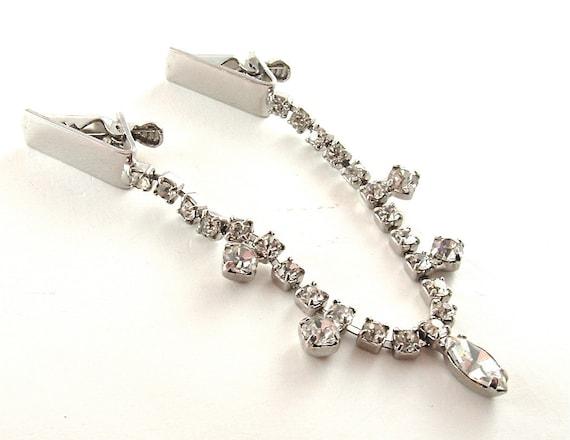 SALE Sweater Guard Vintage Rhinestone Jewelry Fringe Weddings Glamour Formal Holiday Party ((Free Shipping USA))