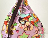 Tomodachi Asian Pop Panda Geisha Ninja Drawstring Pouch/Purse