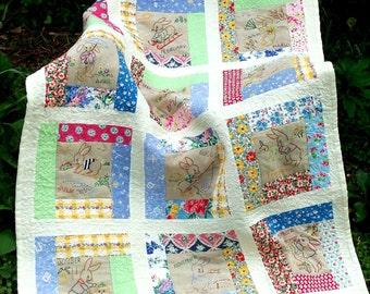 Calendar Bunnies Quilt Pattern Book Instant Download pdf