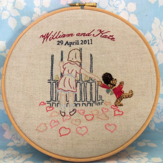 Rosie & Bear  Royal Wedding pdf Embroidery Pattern