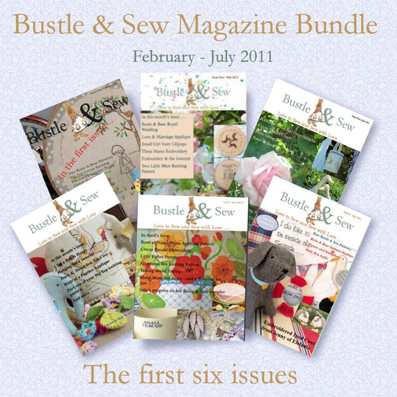 Bustle & Sew Magazine Bundle: First Six Issues