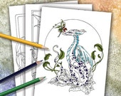 Fantasy Coloring Book  3 by Amy Brown Fairies Dragons Mermaids