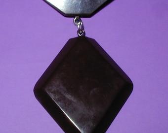 Large Vintage Bakelite Deco Dangling Pin