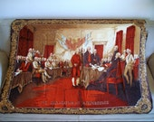 Vintage Fabric Hanging - Declaration of Independence Signing