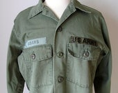 Vintage Drab Olive Green US Army Shirt