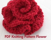 PATTERN - Knitted Flower PDF Pattern Very Easy Photo Tutorial