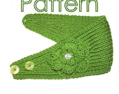 KNITTING PATTERN -  Headband with Crochet Or Knitted Flower