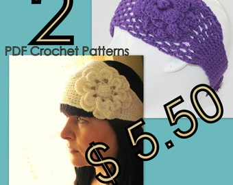 PATTERN - Headband With Flower Crochet Pattern
